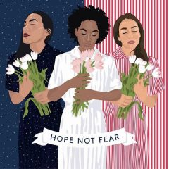 Reloaded twaddle – RT @HillaryClinton: 'Hope Not Fear' Indeed. And what a beautiful piece by Louis...