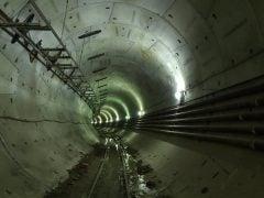 Reloaded twaddle – RT @elonmusk: 26 ft diameter tunnel running 2 miles under D.C. https://t.co/XFQk...