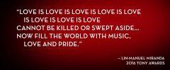 Reloaded twaddle – RT @TheTonyAwards: The power of love.  @Lin_Manuel  @TheTonyAwards  #valentines ...