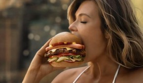 RT @COED: .@CarlsJr ad w/ @samanthahoopes makes us want a burger, among other things. #NationalBurge...