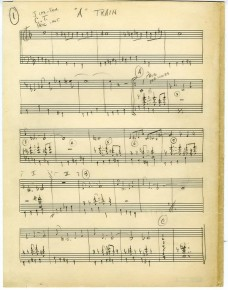 "RT @spyjazz: Strayhorn's original 1939 handwritten score of ""Take the A Train"", the Ellington signat..."