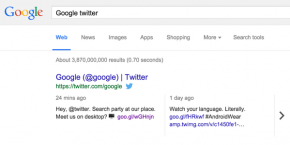 RT @TheNextWeb: Google integrates Twitter into its desktop search results http://t.co/gHnsmDPJJb htt...