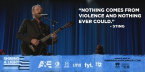 RT @AETV: .@OfficialSting calls for peace. #ShiningALight @ShiningLightNow https://t.co/tat80QU7B1