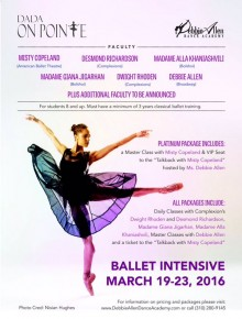 RT @DADancAcademy: We can't wait for @mistyonpointe's Master Class! Register for DADA ON POINTE at h...