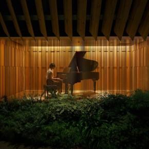 RT Dezeen @Dezeen: Tokyo music showroom based on piano components for Steinway & Sons: https...