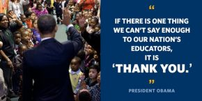 RT The White House @WhiteHouse: It's #TeacherAppreciationWeek! Join us in celebrating all the hard-w...