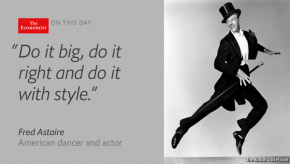 "RT The Economist @EconCulture: ""The most inventive, the most elegant dancer"": Fred Astaire..."