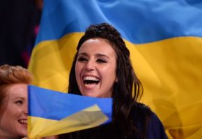 "RT LBC @LBC: #Ukraine's winner Jamala calls for ""peace and love to everyone"". Some critics..."