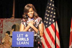 Reloaded twaddle – RT @USAIDAfrica: .@FLOTUS Michelle Obama in #Liberia 2DAY 4 #LetGirlsLearn w/ @h...