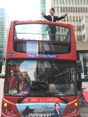 Reloaded twaddle – RT @lang_lang: Unbelievable! My own #RideOfFame double-decker bus!! #LangLangROF...