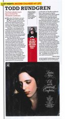 Reloaded twaddle – RT @toddrundgren: Talking about Laura Nyro in this months Mojo Magazine @MOJOmag...