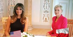 Reloaded twaddle – RT @BeenkDee: #TrumpinPoland The First Lady Of Poland And The First Lady Of USA....