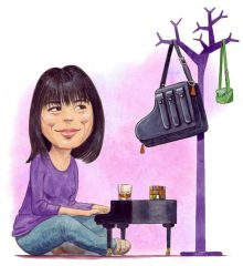 Reloaded twaddle – RT @JontyClark1: August issue of @MusicMagazine  my illustration of @AliceSaraOt...
